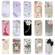 LUXURY 3D Crystal Diamond BLING Rhinestone Hard Back Case Cover FOR iPhone 5 5S