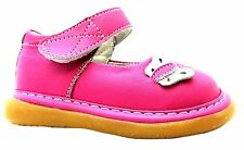 Bambini Butterfly Baby Girls Pink Single Velcro Strap Mary Jane Flower Shoes New