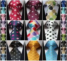 DC Polka Dot 3.4'' 100%Silk Jacquard Classic Woven Man's Tie Necktie Party