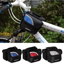 New Retro ROSWHEEL Cycling Bike Bicycle Frame Front Tube Double Pannier Bag