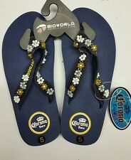 BIOWORLD CORONA EXTRA BLUE BEER MEXICO SANDALS FLIP FLOPS WOMEN US SIZE 5-7