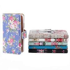 Vintage Floral Leather Stand Flip Case Wallet Cover For Samsung Galaxy S5 i9600