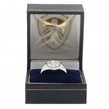 Leeds United FC Official Football Silver Plated Crest Ring Small Medium Large