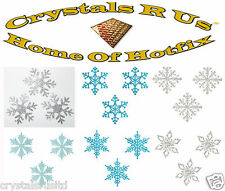 IRON-ON FABRIC 2inch FROZEN SNOWFLAKE CHRISTMAS CUSTOMIZE FANCY DRESS TRANSFERS