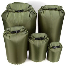 Large Volume Waterproof Packing Bags Light Weight Foldable Outdoor Olive 4-80L