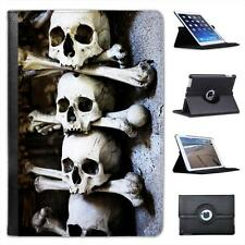 Skulls Stacked With Bones in Cave Scary Halloween Leather Case For iPad Mini