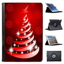 Red Modern Art Christmas Tree with Snowflake Folio Leather Case For iPad Mini