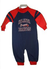 Atlanta Braves Infant Baby Creeper Sizes 12-24 Month Blue Coverall Romper MLB