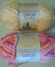LOT OF 2 BERNAT BABY BLANKET YARN - U CHOOSE COLOR