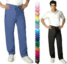 Mens DRAWSTRING Nursing Medical Scrub Pants Bottoms NWT XS thru 5XL -25 COLORS!