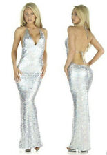 Sexy Womens Long Sequin Formal Ball Cocktail Prom Dress Party Dress Evening Gown