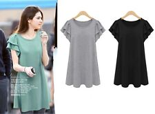 S004 NEW Women's summer loose tops Blousedress plus size 12-20