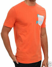 PUMA Men's Athletic Apparel TRANSLUCENT POCKET TEE TIGERLILY 56658402