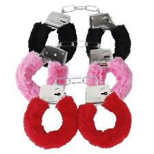 Fluffy Metal Handcuffs Sexy Role Play Toy Bachelorette Party Fancy Dress Costume