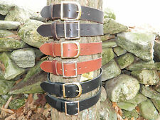 "Handmade Thick Leather Belt Men Woman 1 3/4"" Inch wide Black Brown Tan YOUR SIZE"