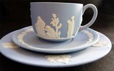 Wedgwood Blue or Green Jasper Trio (Cup, Saucer and Side Plate)