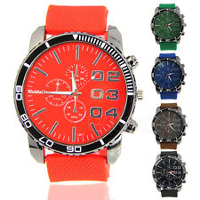 Luxury Sport Analog Quartz Clock Mens Fashion Stainless Steel Wrist Watch