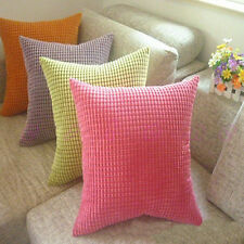 Fashion Corn Kernels Corduroy Sofa Cushion Cover Decor Pillow Case Square
