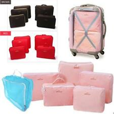 Portable 5pcs/set Waterproof Travel Packing Cubes Clothes Organizer Storage Bags