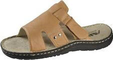 Soft Strap Men's Sandal Beige sizes US 8 - 13 Leatherette, Style 05, Air Balance
