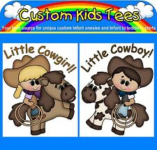 Cowboy Cowgirl Custom Baby Infant Onesie Creeper Bodysuit Toddler Kids T-shirt