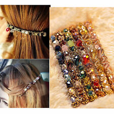 Women Korean Fashion Crystal Rhinestone Barrette Hairpin Hair Clip Accessories