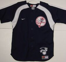 NEW Boys Kids Youth NIKE New York NY YANKEES Blue Baseball AL Patch MLB Jersey