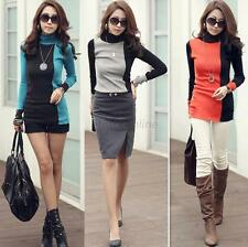 Womens Stylish Sweater Blouse Tops Turtleneck Pullovers Long Sleeve Tee Shirt L