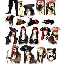 Pirate Fancy Dress Mens Ladies Kids Book Halloween Character Costume Accessories