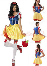 Sexy Womens Adult Snow White Disney Princess Halloween Costume Fancy Dress M-2XL