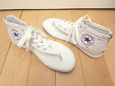 NIB! Converse Chuck Taylor White Canvas Gladiator Thong Sneaker Sandal Lace Up
