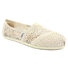 Toms Crochet Classic Womens Textile Natural Espadrilles New Shoes All Sizes