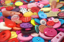 Unusual Assorted Shape Craft Buttons mixed sizes Colours large small Sewing 100g