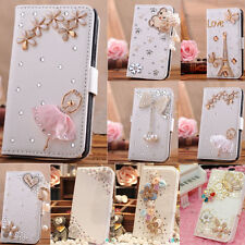 Hot Sale 15 Styles Luxury Bling Crystal Rhinestone PU Leather Case Cover