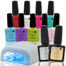 CHOOSE 1 CND Shellac Pick Gel Nail Polish TOP BASE COAT + Salon Edge WHT UV LAMP