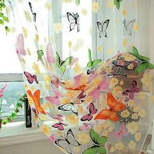 Stylish Butterfly Sheer Window Screens Door Balcony Curtain Panel Tulle Scarfs