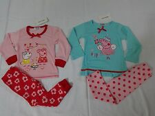NWT PINK BLUE PEPPA PIG 2 PIECE PJs PAJAMAS SLEEPWEAR 2T 3T 4T 5 6 NEW!