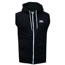 Bad Boy Sleeveless Zip-Up Hoodie - Black
