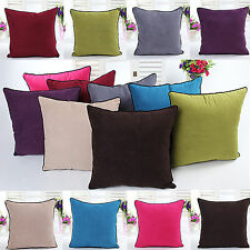 18'' Super Soft Crushed Velvet Throw Pillow Case Cushion Cover CK