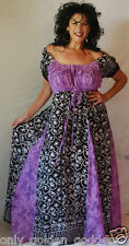 black purple white peasant empire dress inset short sleeve batik beautiful