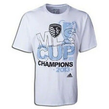 adidas MLS Sporting Kansas City KC 2013 MLS Cup Champions Soccer Shirt New White