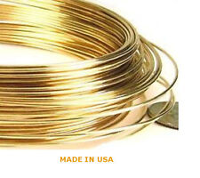 10K Solid Yellow Gold 18 Ga - 30 Ga 1/2 Hard Round Wire  BRAND NEW MADE IN USA