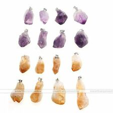 Natural Crystal Quartz Healing Point Chakra Bead Gemstone Pendant for Necklace