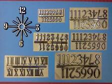 CLOCK NUMBERS - CLOCK NUMERALS - ***SELF ADHESIVE*** - CHOICE OF STYLES/SIZES