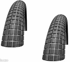 "SCHWALBE BMX BIKE TYRES CRAZY BOB 20"" X 2.10 PAIR PUNCTURE PROTECTION BLACK"