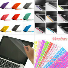 4in1 Rubberized Hard Case+Keyboard Cover +Film For Macbook Air Pro 11 13 15 inch