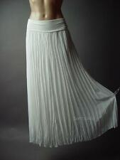 Romantic Grecian Goddess Elegant Pleated Chiffon Long Maxi 95 mv Skirt S
