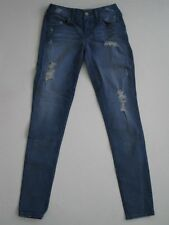 WOMENS SOLD DESIGN LAB Medium Blue Fatigue SOHO SUPER SKINNY Jeans Denim ZIPPER