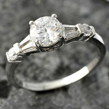 Classic White Gold Filled Crystal Wedding Engagement Ring,FreeShipping