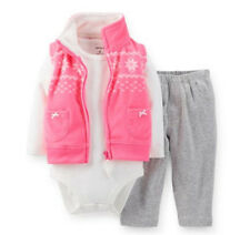 Carters Newborn 3 6 9 12 18 24 Months Vest Pants Set Baby Girl Clothes Outfit